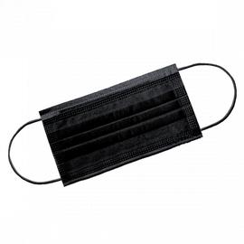 Маска 3-х слойная на резинках Чёрная 1-Touch Эконом ПОШТУЧНО 1  5