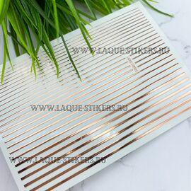 3D эластичные металлические наклейки полосы PINK GOLD (гнутся) 1  140