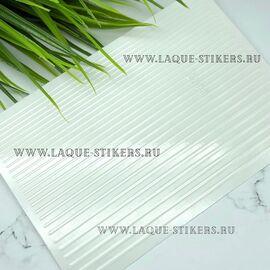 3D эластичные наклейки полосы WHITE (гнутся) 1  120
