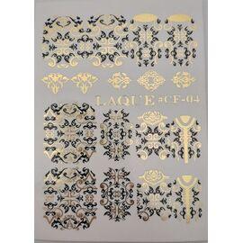 Слайдер дизайн Laque #CF-04 чёрный золото 1  71