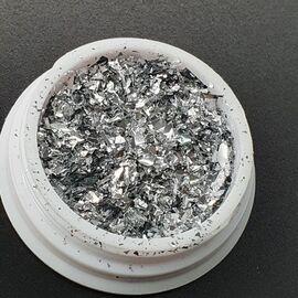 Хлопья однотонные серебро 1  90