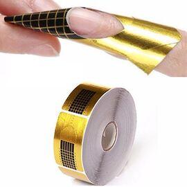 Формы для наращивания Nail Art узкие-золото 500шт. 1  350