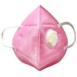 Маска защитная текстиль розовая с фильтром 1  95