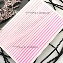 3D  наклейки полосы  NEON PINK (гнутся) 1  140