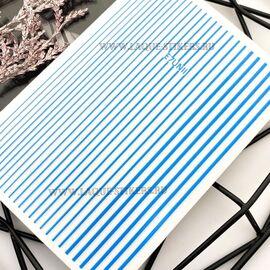 3D  наклейки полосы NEON BLUE (гнутся) 1  140