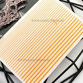 3D  наклейки полосы  NEON ORANGE (гнутся) 1  140