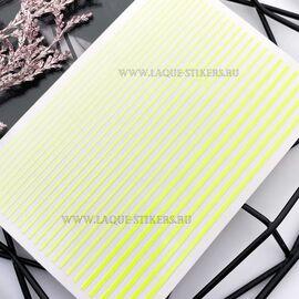 3D  наклейки полосы  NEON YELLOW (гнутся) 1  140