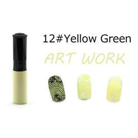 Краска для стемпинга KADS №12 жёлто-зелёный 1  210