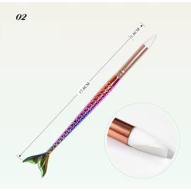 Кисть силиконовая для втирок рыбий хвост 1  145