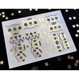 Слайдер дизайн Laque #CF-03(18) чёрный золото 1  71