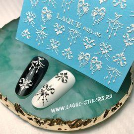 Слайдер-дизайн  Laque 3D-05 белый 1  120