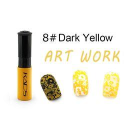 Краска для стемпинга KADS №08 жёлто-оранжевый 1  210