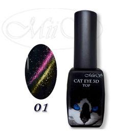 Top Cat Eye 3D 8 ml №01 (Топ Кошачий Глаз 3D) 1  360