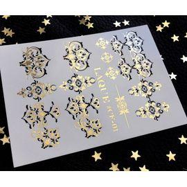 Слайдер дизайн Laque #CF-01 чёрный золото 1  71