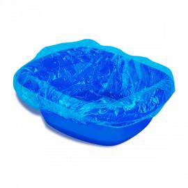 Пакет для педикюрных ванн Полиэтилен Голубой 50х50+20 см 100 шт/уп 1-Touch 1  395
