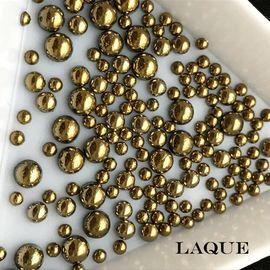 MIX жемчуг для дизайна - color GOLD (не теряют цвет) 1  140