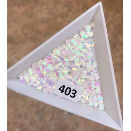 3d пайетки квадраты 3*3 мм единорог 1  70