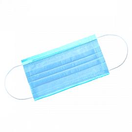 Маска 3-х слойная на резинках Голубая 1-Touch Эконом 50 шт/упк 1  215