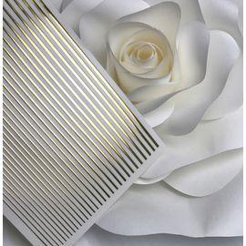 3D эластичные металлические наклейки полосы GOLD (гнутся) 1  140
