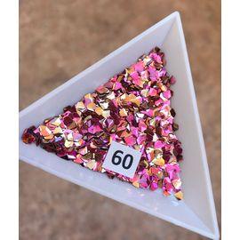 3d пайетки алмазы розовый 1  70