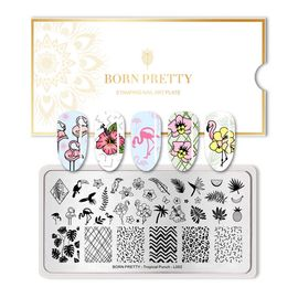 Пластина BORN PRETTY 12*6 Tropical Punch BP-L002 для стемпинга 1  250