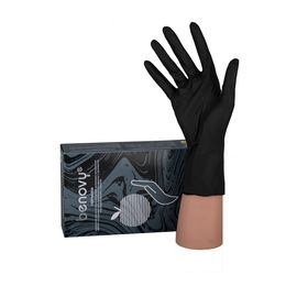 Перчатки Benovy  S 100 штук (50пар) чёрные нитриловые неопудренные 1  525