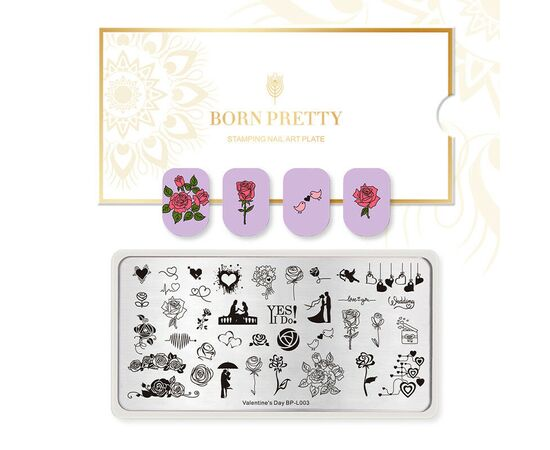 Пластина BORN PRETTY 12*6 Valentine`s day BP-L003 для стемпинга 1  250