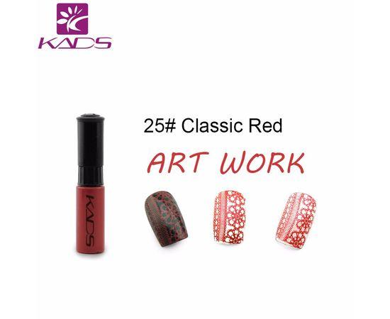 Краска для стемпинга KADS №25 красный 1  210