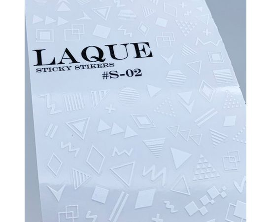 Наклейки Laque STICKY STIKERS #S-02 WHITE 1  140