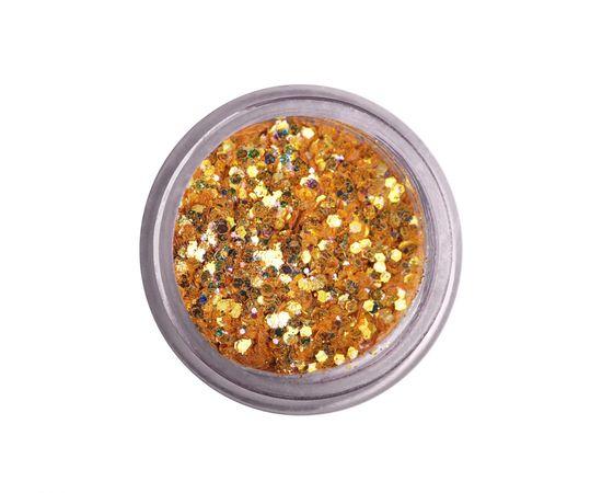 Пайетки мелкие шестигранники микс яркое золото голография 1  60