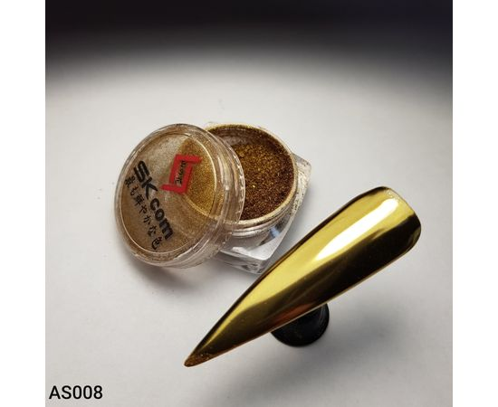 Зеркальная металлическая втирка LUX AS008 1  200