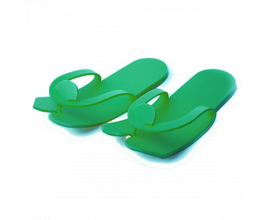"""Тапочки 1-Touch """"вьетнамки"""" стандарт 04-408 Пенополиэтилен зелёный 5 мм 25 пар/упк стандарт 1  393"""