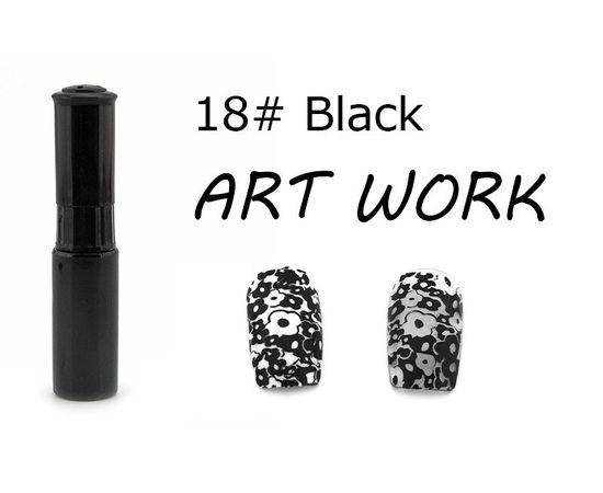 Краска для стемпинга KADS №18 чёрный 1  210