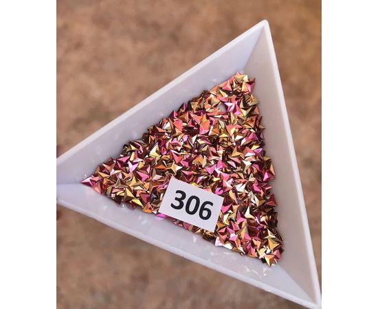 3d пайетки треугольники розовозолотые 1  70